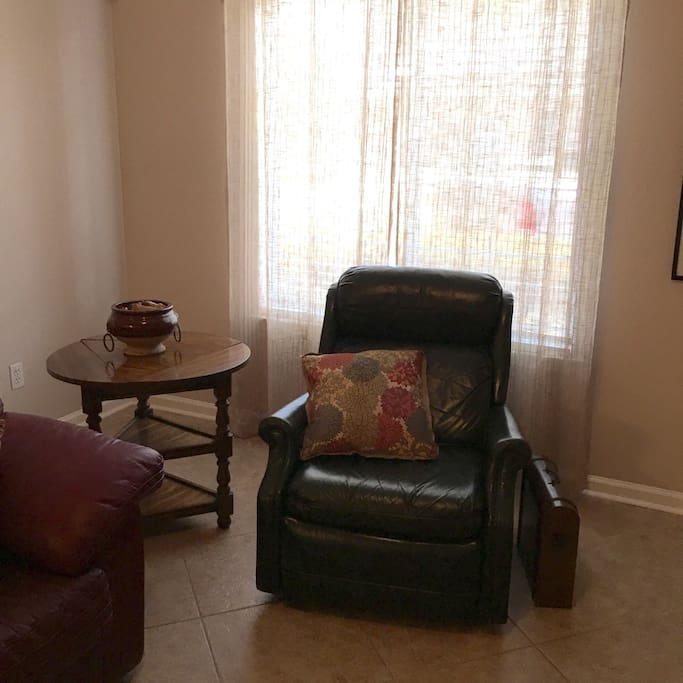 Recliner in the Living Room - VERY comfortable