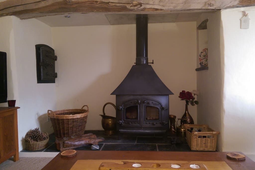 Log fire for cosy nights