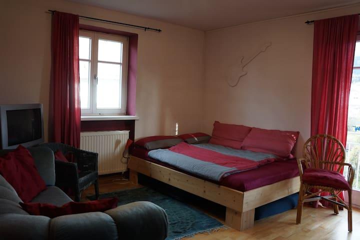 Blick in das Schlafzimmer für 1 bis 2 Personen