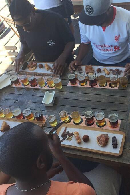 Craft beer tasting and food pairing