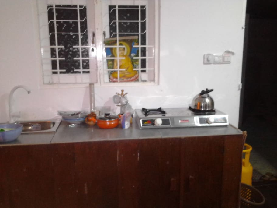 Pantry with cooking facilities