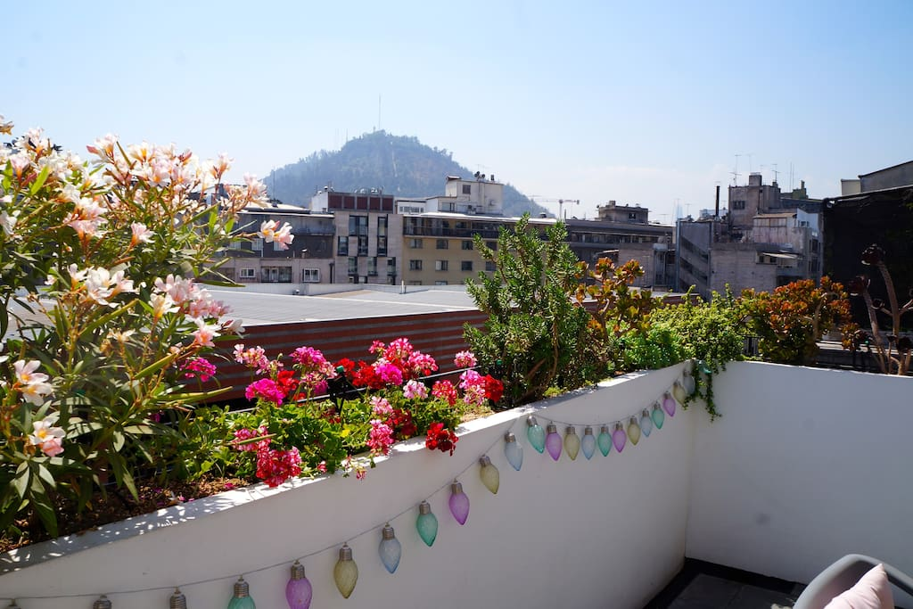 Amazing view towards San Cristobal hill from the terrace