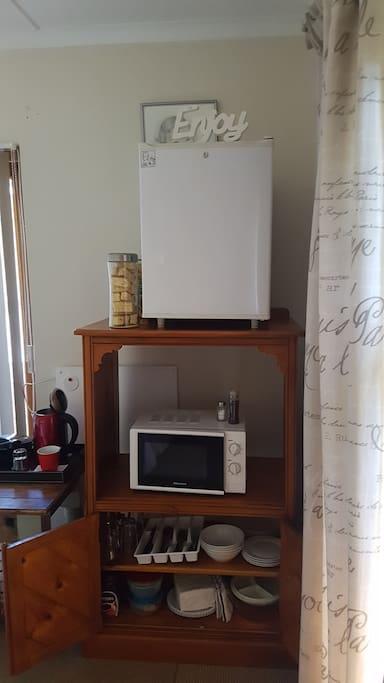 Small fridge and micro