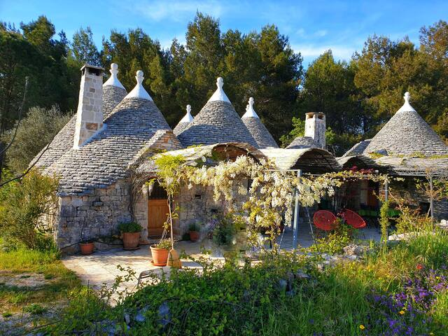 Secluded Trullo, surrounded by greenery