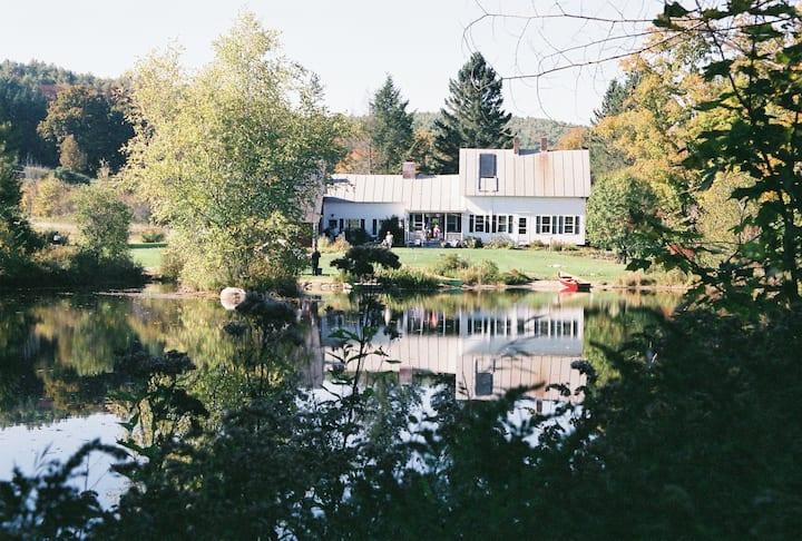 Sunny 1850 farm house and pond