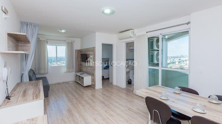 Apartamento em andar alto, totalmente mobiliado, e pronto para te receber