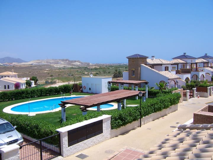 Villa with 3 bedrooms in Vera playa, with shared pool and enclosed garden - 3 km from the beach
