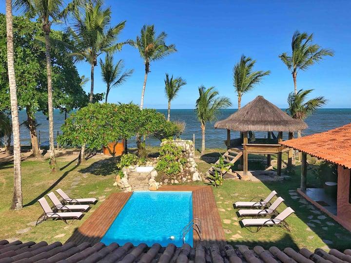 Cabana Bali Villa FRENTE AO MAR - 21 pessoas