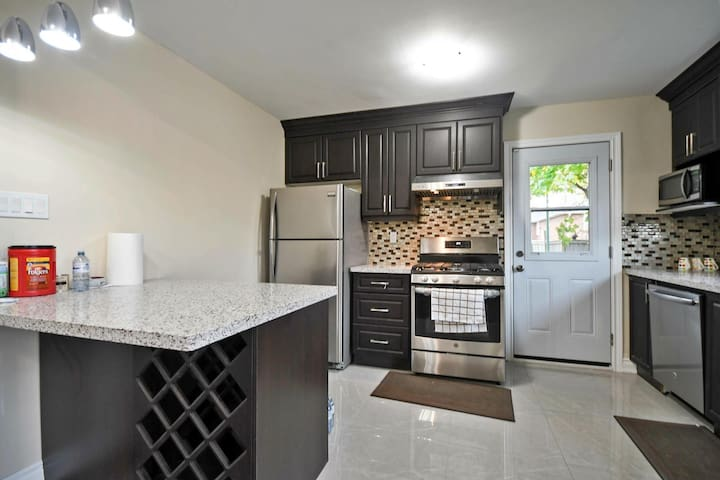 Kitchen with Gas Stove & Modern Appliances