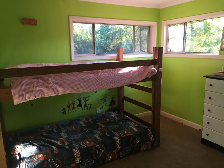 BR #2... Bunk beds and plenty of floor space.