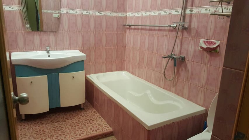 The toilet in the master bedroom.
