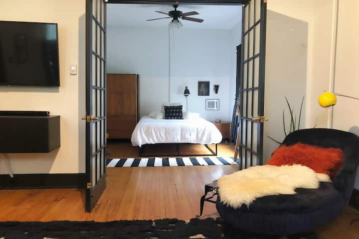1 BR in historic carriage home w/ modern touch.