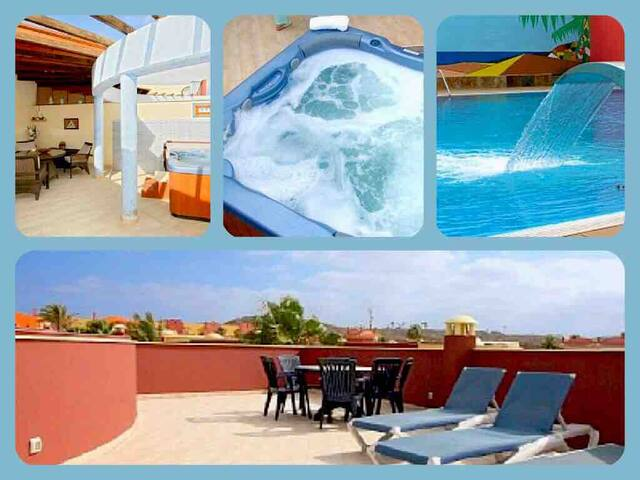Holiday Villa Corralejo with own 6 person Hot Tub