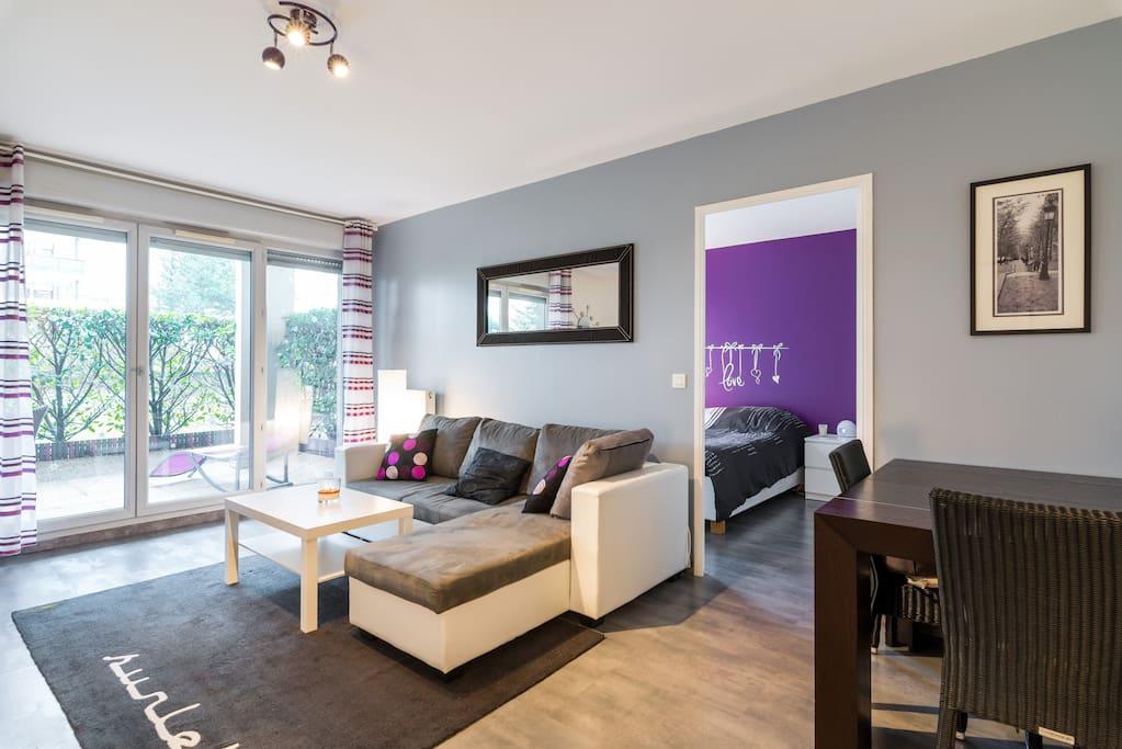 Bel appartement en rez de jardin apartments for rent in for Appartement rez de jardin lyon