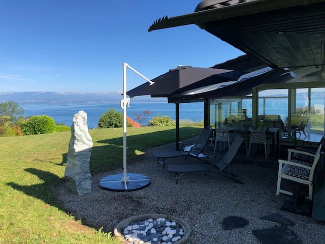 Villa, maison house Evian with panoramic lack view