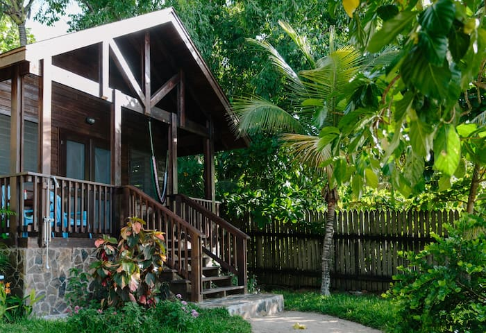 View of One of the Four Private Beachfront Bungalows