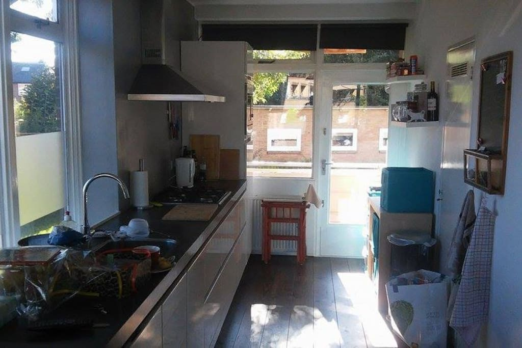 Nice and bright kitchen.