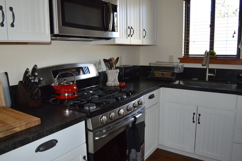 Well stocked kitchen with top of the line appliances