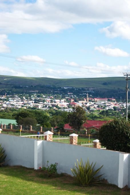 View of Grahamstown City centre.