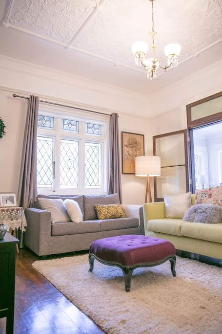 Front lounge room and sofa bed