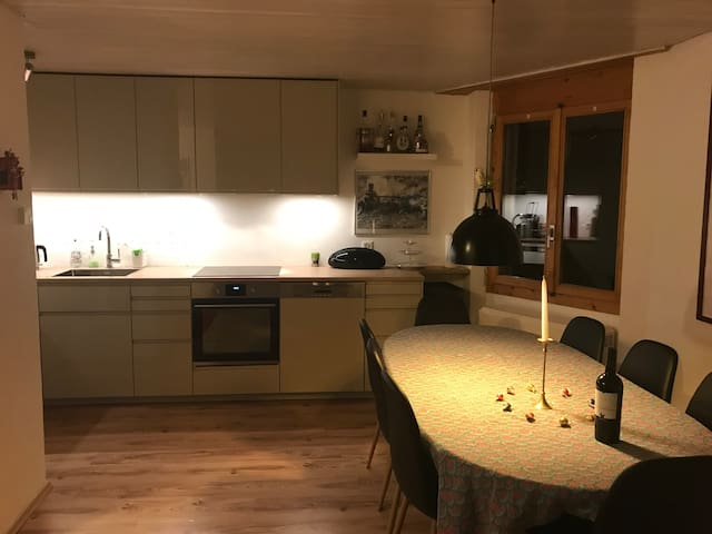 Neue Küche und Essecke/ the new kitchen with the dinning table
