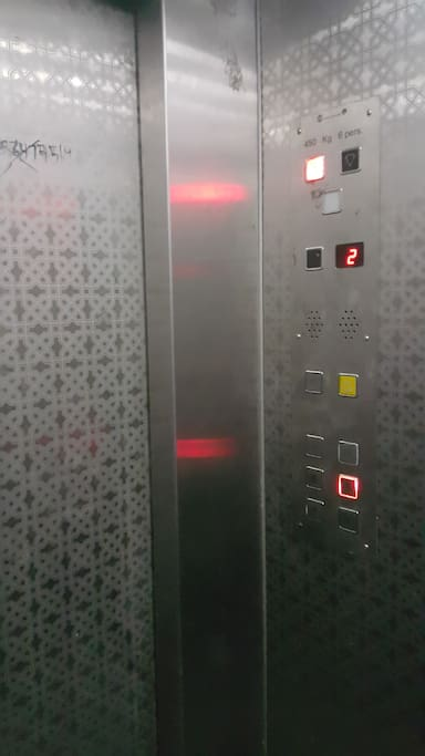 one of the building elevator