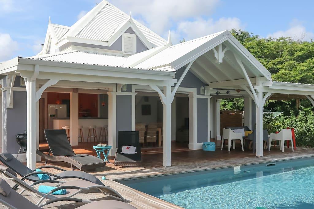 La terrasse @Villa Blue Lagoon St François