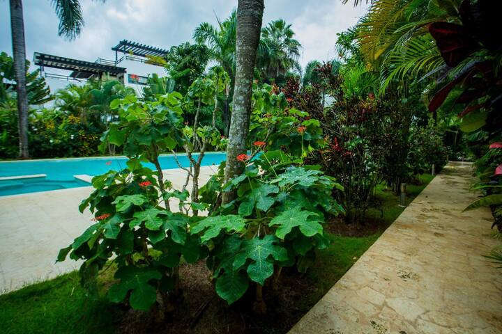 Fairways Garden Paradise 2 level apt/ with Jacuzzi