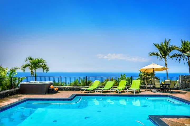 ★★Luxury stunning ocean view private pool/spa/AC⚡