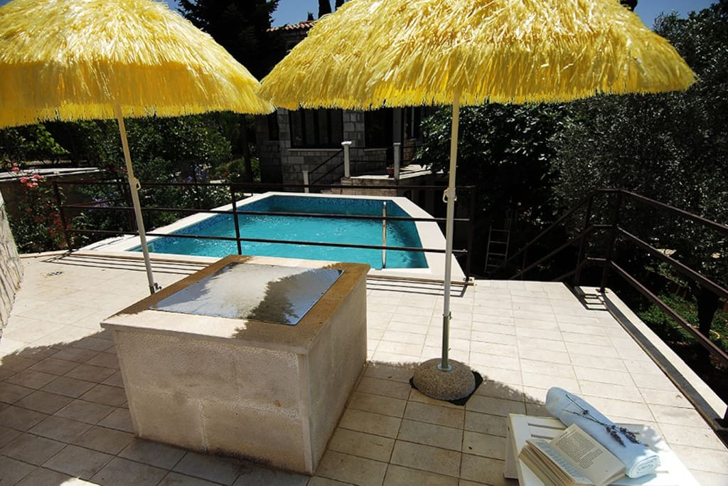 Swimming Pool and place for sunbathing