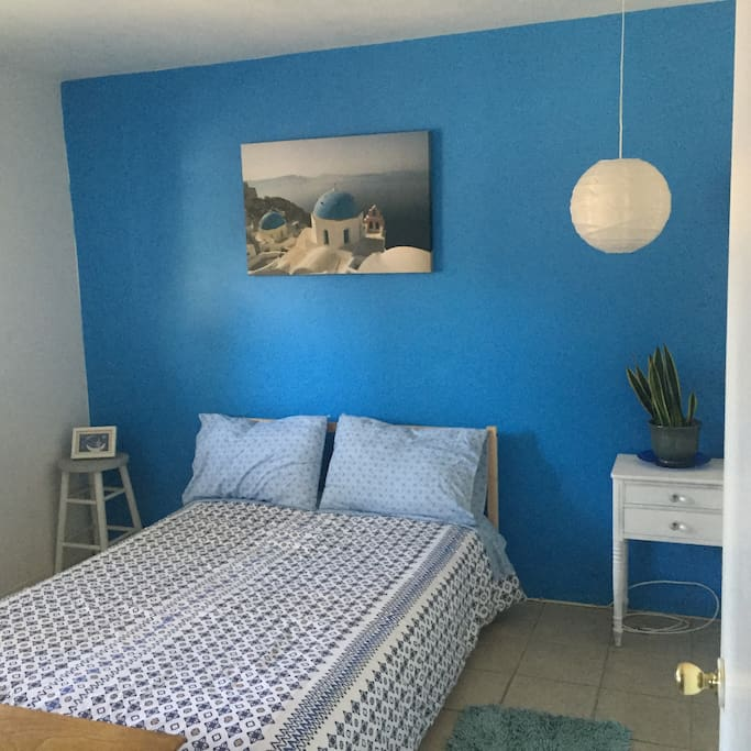 "Bedroom #1 - ""The blue room"""