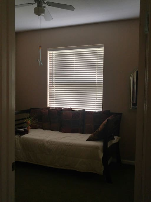 Room can also be used for one person or two (trundle bed underneath)
