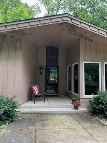 Beautiful Entrance and Front Porch to the house.  A great place to sit and read or enjoy the weather!