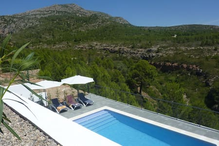 Modern villa with private pool and stunning views of nature