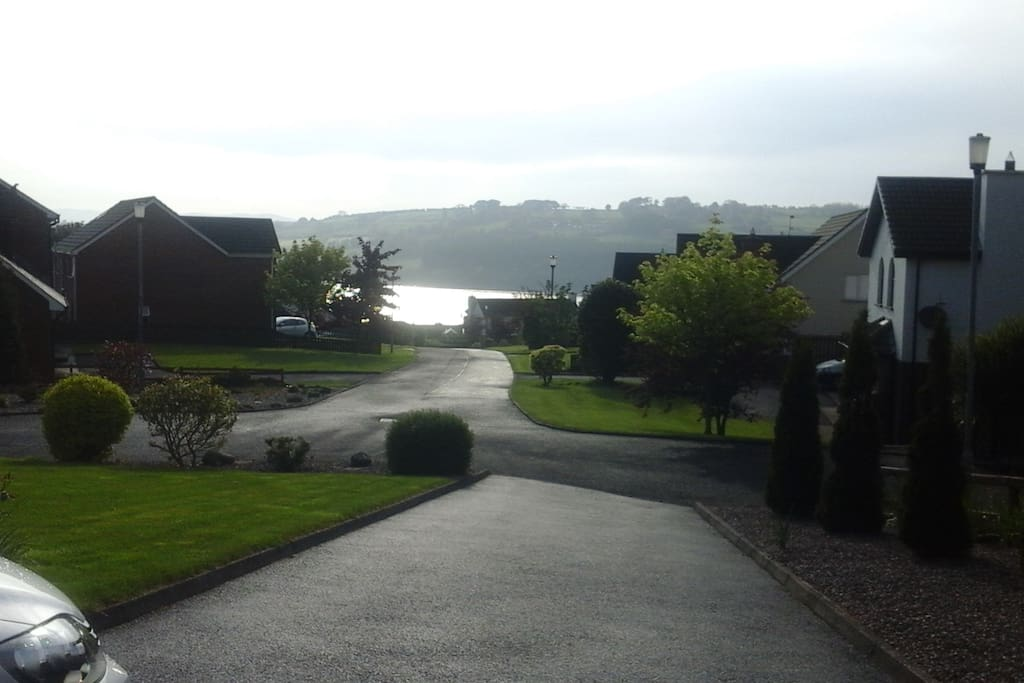 View from front of house to River Foyle and Donegal beyond