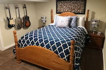 Bedroom: Snooze away on our Queen size bed with 4 - inch memory foam topper.