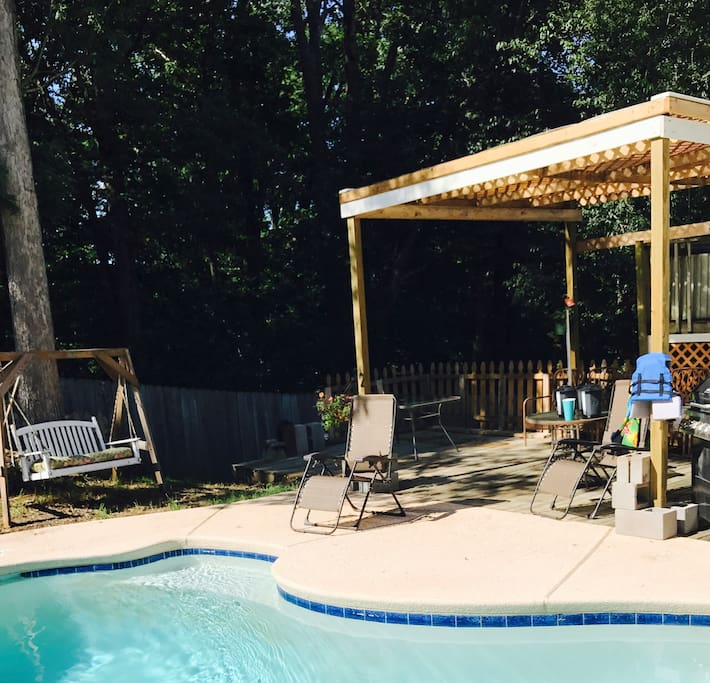 A private backyard can be access from your backyard! Open Memorial day weekend through Labor Day weekend only.