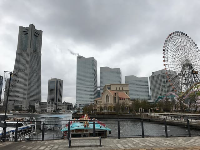 横浜置地广场一步之遥 和风2房1厅 。未来港线马车道站一分钟。神奈川县 - 横滨市 - Daire