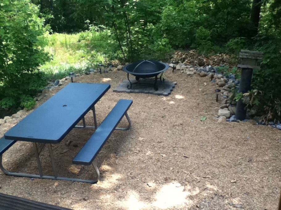 Picnic and Firepit Area