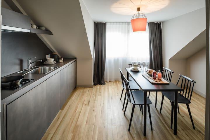 3-room apartment in design hotel - near trade fair