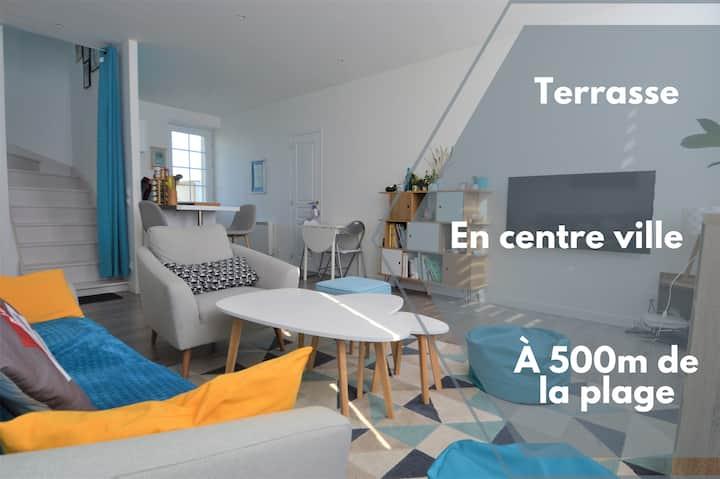 Appartement moderne ☀ Terrasse à 500m de la mer