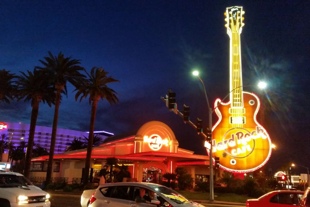 World Famous Hard Rock Cafe, Hotel, Casino and Resort.