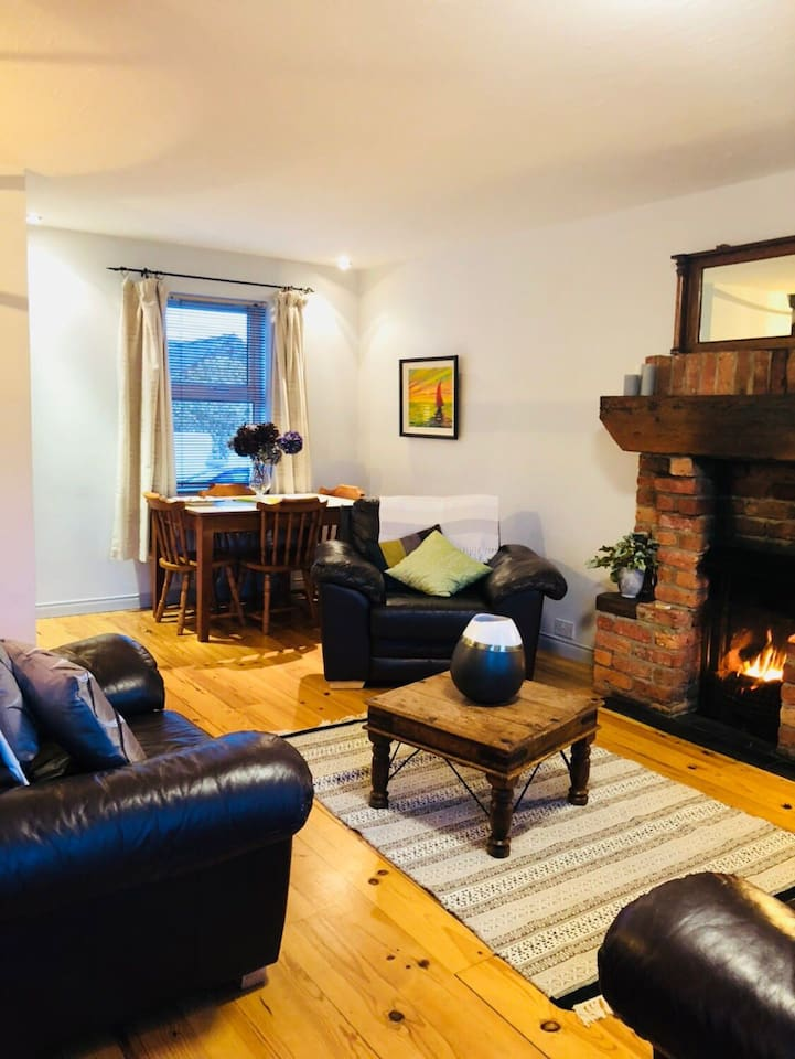 On colder days relax and enjoy a warm cosy open fire.