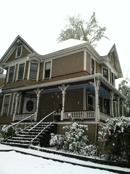 Magnolia House in winter