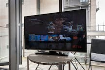 Smart TV with Netlfix (no terrestrial channels)