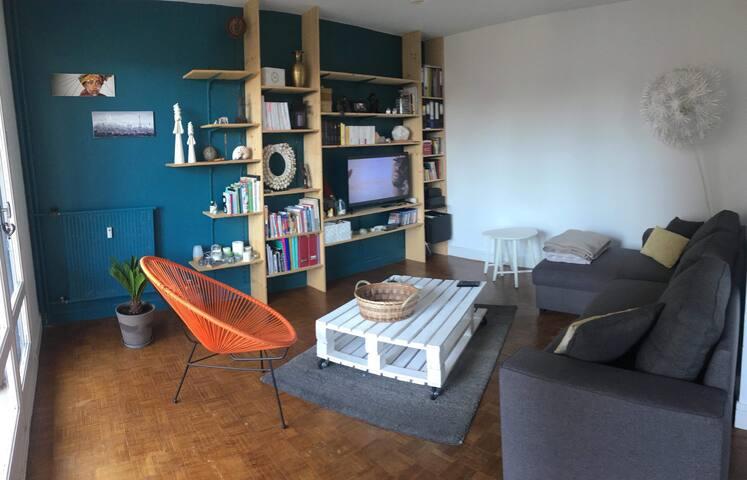 Chambre privée dans appartement chaleureux