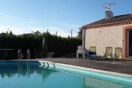 Maison 3 ch, 10 mn de Toulouse - Piscine et jardin - 圖盧茲