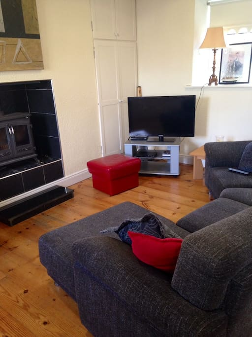 Sitting room area, bring , modern and much more spacious than it looks