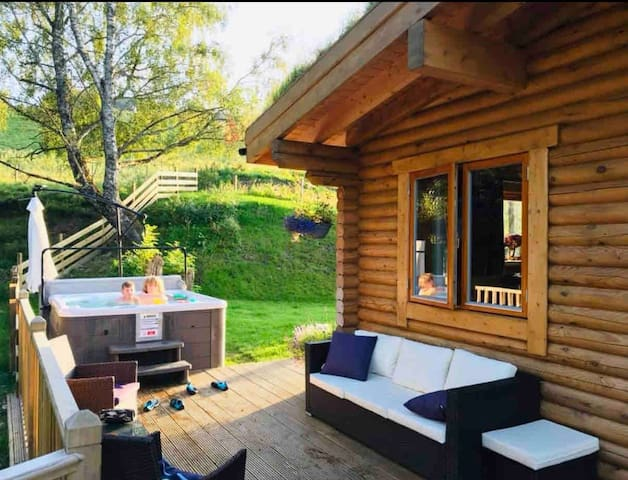 """The Farmers Den"" Luxury lodges with hot tubs."