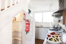 Pantry storage with safety items